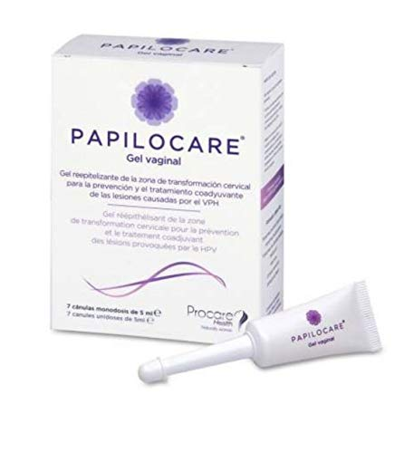 Papilocare vaginal gel HPV-induced lesions 7 Unidoses x 5 ml Gift For Treatment Your Skin
