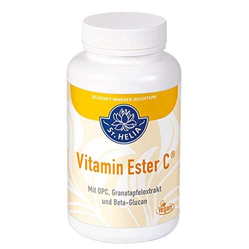St. Helia Vitamin Ester C®, 1.000 mg Vitamin C, mit OPC, Granatapfelextrakt und Beta-Glucan, rein vegan, Dose à 120 g, 90 Kapseln für 3 Monate