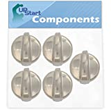 5-Pack WB03T10325 Range Burner Control Knob Replacement for General Electric WB03T10325 Range - Compatible with WB03T10325 Range Knob - UpStart Components Brand