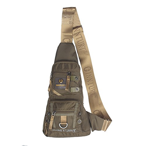 Innturt Bodybag-Rucksack, Nylon - Triangle-Army Green