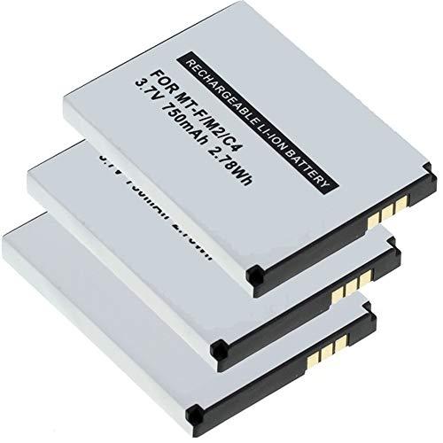 MeXXstar 3 X Akku für AVM Fritz!Fon MT-F / M2 / C4 / C5 / 312BAT006 (Li-Ion - 750mAh/2,78Wh) (3X)