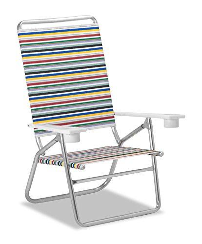 Telescope Casual M51100902 Original Mini Sun Chaise Beach Chair, Classic Stripe