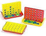 Baker Ross Juego de 4 en Raya en Miniatura (Paquete de 6) Para regalar y jugar con niños