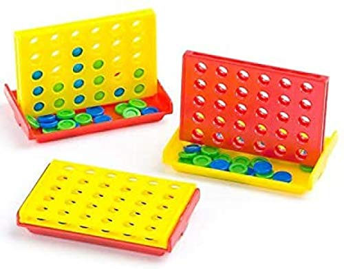 Baker Ross Mini 4-in-a-Row Games Value Pack Novelty Toys for Kids, Perfect Party, Loot or Prize Bag Filler (Pack of 4)