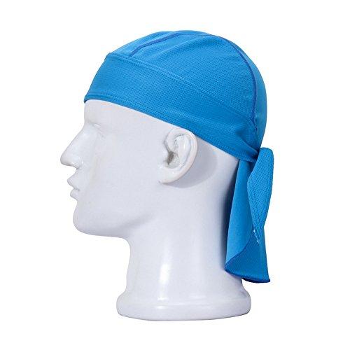 FREEMASTER cappello sportivo e bandana per ciclisti uomo e donna, colori nero rosso bianco, foulards, cappelli, Blau