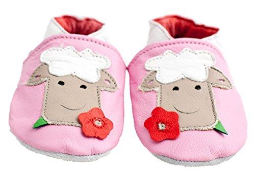 Chaussures bébé en cuir souple mouton - Rose - rose, 18-24 mois