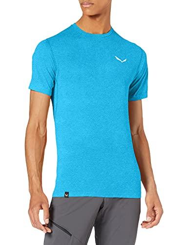 Salewa 00-0000027725_8989 T-Shirt Homme, Blue Danube Melange, FR : M (Taille Fabricant : 48/Medium)
