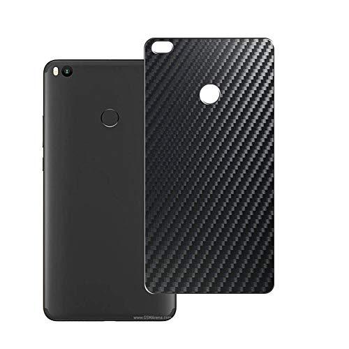 Vaxson 2 Unidades Protector de pantalla Posterior, compatible con XIAOMI MI Max 2 max2, Película Protectora Espalda Skin Cover - Fibra de Carbono Negro