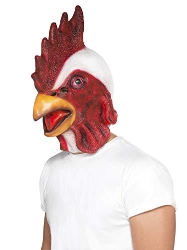 Smiffys Masque poulet, Blanc, Masque couvrant toute la tête, latex