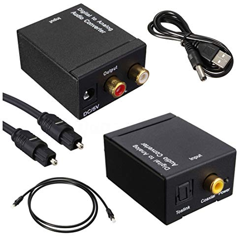 KDOI Conversor de audio digital óptico coaxial Toslink a analógico RCA SV