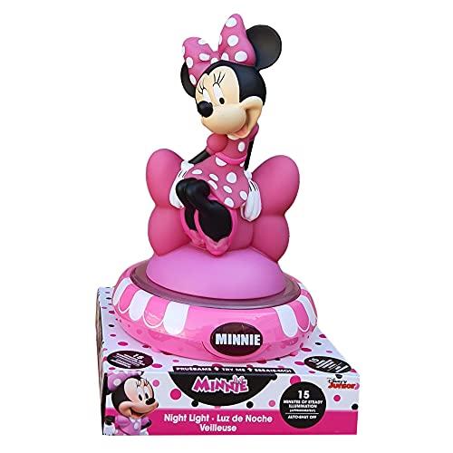 KIDS EUROSWAN SL Lámpara 3D Minnie Mouse Disney Mesita de noche con luz LED a pilas – WD21657