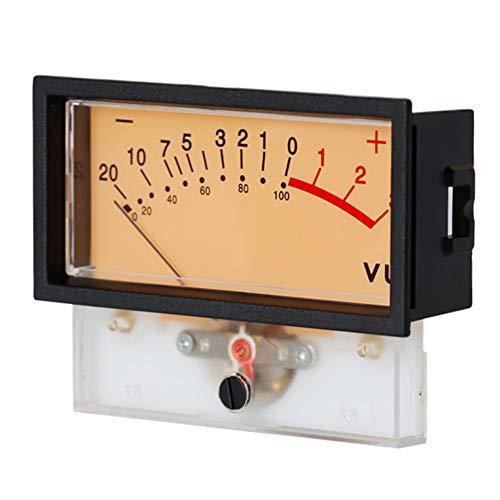 VU Meter Indicatore High Accurate Mixer Portatile Retroilluminazione DB Livello Audio Power Discharge con Frame Stable Panel Tools, Nero , Taglia libera
