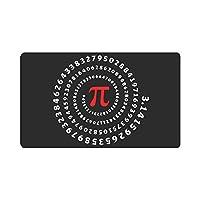面白いパイスパイラル円周数学ドアマット滑り止めエントランスマットフロアラグ屋内/屋外/フロントドアマット家の装飾,40x60 cm