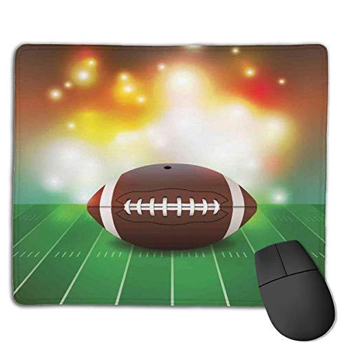 Gaming Mouse Pad American Football Ball auf Gras Sport dekorative Mousepad Mat Gummibasis Home Decor für Computer Laptop Home Office Game Desk