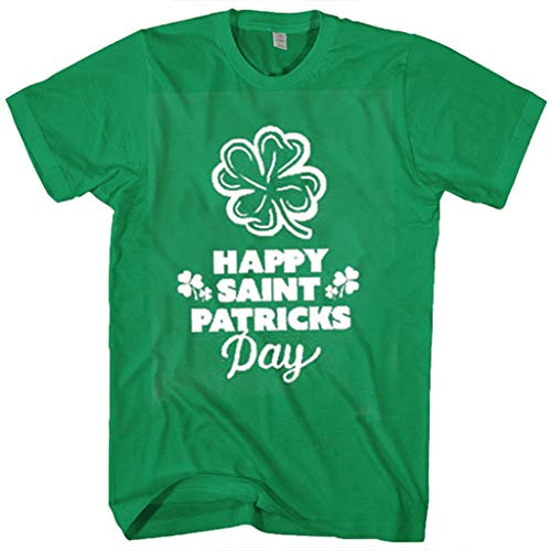 Amazing Deal Casual Short Sleeve t-Shirt for His and Hers St. Patrick's Day, Shamrock Print Letters ...