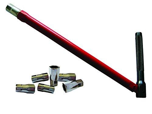 Prci 355561CLE lavabo Speciale–Grifo diámetro 13mm + 6puntas diámetro 8–9-12–10–11–14mm, rojo