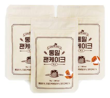 Dano(ダノ) 全粒粉パンケーキミックス 350g(70g×5袋) ホエイ プロテイン入り 砂糖不使用 高たんぱく 蛋白質