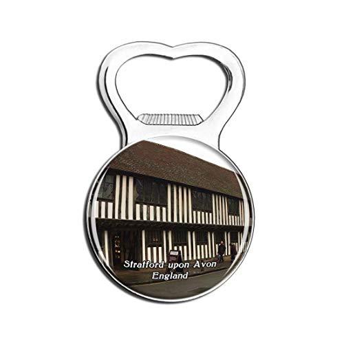 Weekino Strat-Upon-Avon Shakespeares Schulzimmer & Guildhall UK England Bier Flaschenöffner Kühlschrank Magnet Metall Souvenir Reise Gift