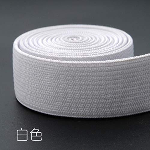 Bands glans zilver goud broek 40 mm 25 mm streep nylon koord confectiemaat broek DIY Naai Accessoires 1M,wit,40 mm
