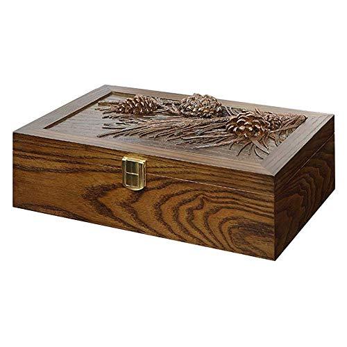 SUNSUY / De los Hombres de Las Mujeres Caja de Madera del Reloj Resina de la Vendimia Tallada Caso 8 Rejilla con Bloqueo exhibición de la joyería Caja de Almacenamiento Colección decoración NXT