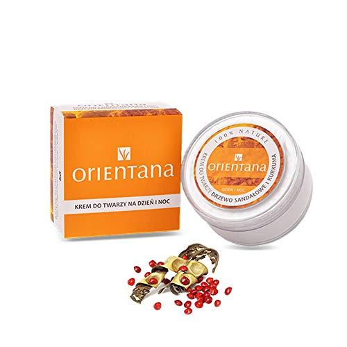 OrientanaGesichtscreme mit Sandelholz und Kurkuma - 99,5% Natürliche, 100% Vegane ayurvedische Formel mit feuchtigkeitsspendender und regenerierender Wirkung, 50 g