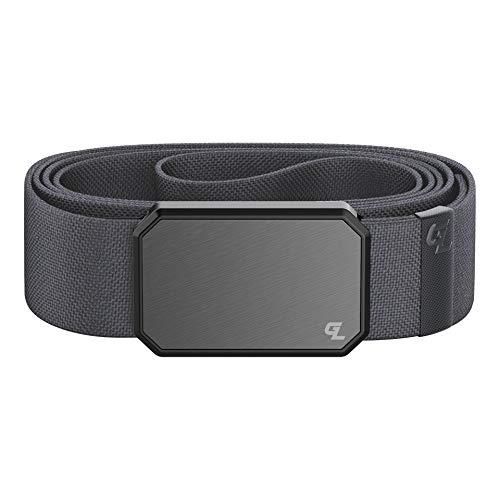 """Groove Belt by Groove Life – Stretch-Nylon-Gürtel für Herren mit magnetischer Aluminiumschnalle, lebenslange Abdeckung, Rotguss / Stein., Medium (33-36"""")"""
