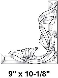 Stained Glass Supplies - Victorian Corner Bevel Cluster Left Side EC961L