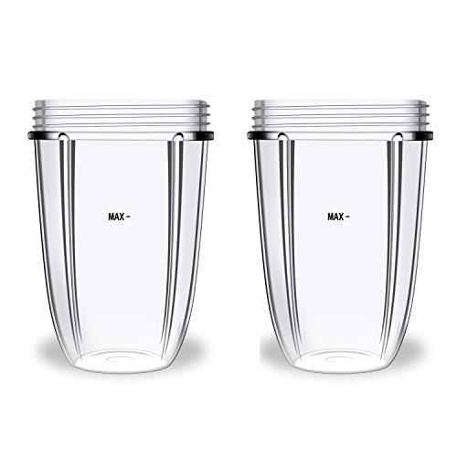 510 ml Becher für kompatibel mit Nutribullet 600 W/900 W Ersatzteile, Mixer, Entsafter (2 Stück)