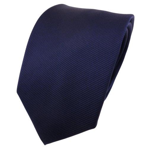 TigerTie - Corbata - azul oscuro azul real monocromo Rips