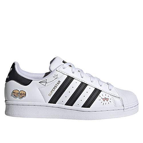 adidas Superstar J, Zapatillas Deportivas, FTWR White Core Black Gold Met, 38 2/3 EU
