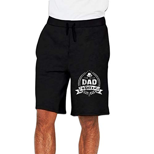 HaiguangZ Nideming The Best Dad Ever Gift Father's Day Shirt Daddy Sports Designed Short Pants for Boy Black 3XL