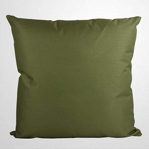 DONL9BAUER Olive Green Decorative Square Throw Pillow Covers Solid Accent Pillowcase Green Farmhouse Cushion Cover for Sofa Couch Home Decor 18'x18'