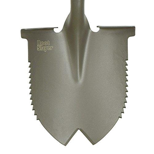 Radius Garden 22211 Root Slayer Round Head Shovel, Root Slayer Round Head Shovel, Red