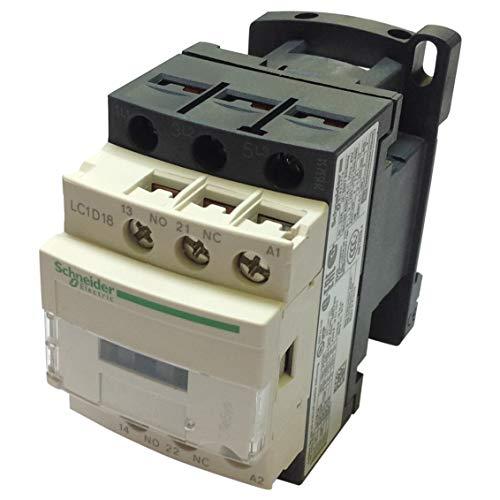 LC1-D18F7 | LC1D18F7 | Schneider CONTACTOR, 3P, 18A (AC-3 AT 440V), 110V 50/60HZ COIL, 1 NO + 1 NC AUX