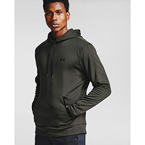 Under Armour Men's Armour Fleece Solid Hoodie , Baroque Green (310)/Black , XX-Large