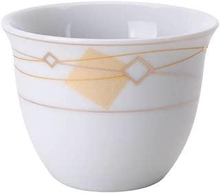 Turkish Arabic Coffee Cups Gawa Set of 12 Gold Banded Cups (Golden Diamonds)