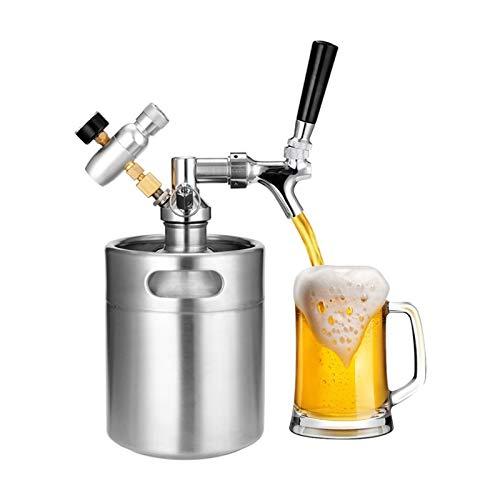 BENOHAOH Juego De Cerveza De Cerveza De Acero Inoxidable 2L con Tap Presurizado Cerveza De Cerveza Crafting Craft Dispenser Growler, Systembeers Keg Kit