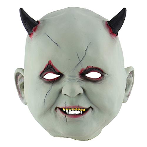 Máscara de látex de Halloween Valicclud assustadora para baile de máscaras, máscara de desempenho de vampiro