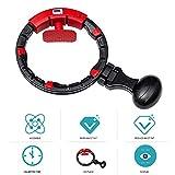 LIPAI Smart Hula Hoop, Brûleur De Graisse Rotatif À 360 °, Taille Mince Amincissant Le Hoola Hoop pour Adultes Et Enfants avec Comptoir, Réglable