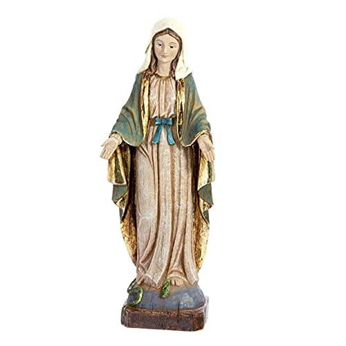 Virgen LA MILAGROSA Madera Vieja (31_cm)