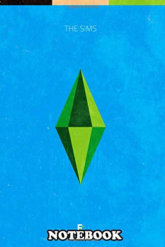 Notebook: The Sims Minimal Videogame Poster , Journal for Writing, College Ruled Size 6
