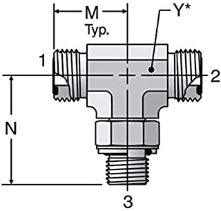 Parker Seal-Lok - Branch Tee – BSPP (for ISO 1179-1 Port) ORFS / ORFS / BSPP-ORR