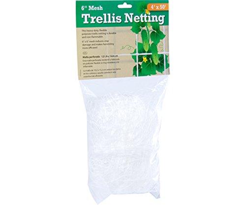 Hydrofarm HGN504 Flexible Polyethylene, 4 x 50', 6' Mesh Trellis Netting, 4' x 50'