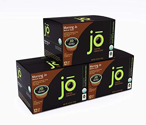MORNING JO: 36 Cup Organic Breakfast Blend Single Serve Coffee Pods...