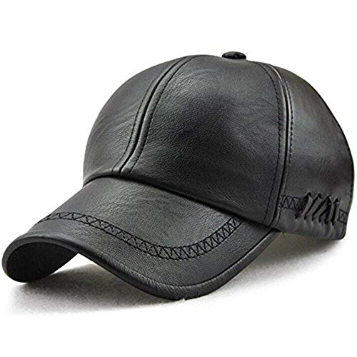 MAOTE Men's Vintage PU Leather Baseball Cap Windproof Warm Outdoor Sports Driving Hats