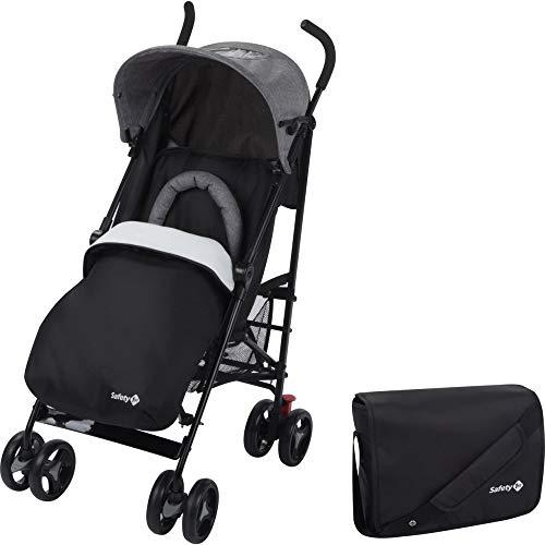 Safety 1st Rainbow - Cochecito multiposición con pack confort, compacto y ligero, de 6 meses a 3,5 años, color negro