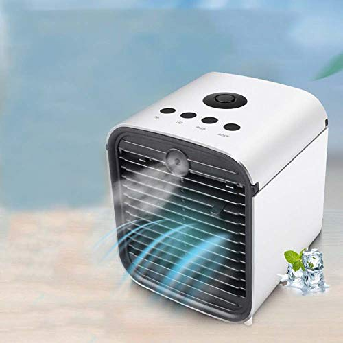 Harddo Mini Air Conditioner, 3-in-1 draagbare mini mobiele luchtbevochtiger en luchtreiniger met 3 snelheden, 7 kleuren, ideaal voor slaap thuis of op kantoor