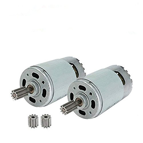 jiaruixin 2 Pcs Universal 550 30000RPM Electric Motor RS550 12V Motor Drive Engine Accessory for RC Car Children Ride on Toys Replacement Parts