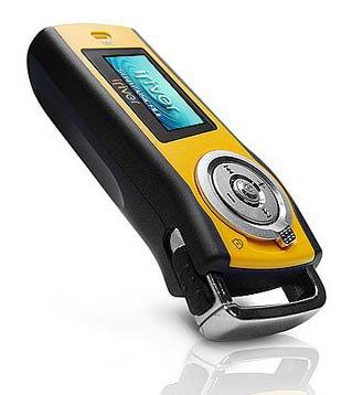 iRiver T 10 FM Tragbarer MP3-Player 1 GB mit Radio gelb