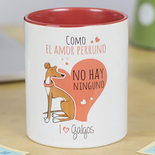 La Mente es Maravillosa - Taza con frase y dibujo divertido sobre Perro - Regalo original de MASCOTA (Taza Galgos)